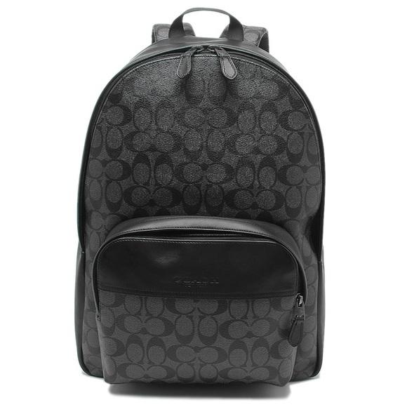 Coach Houston Charcoal Black Backpack F72483